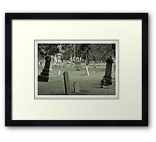 The Old Resting Place Framed Print
