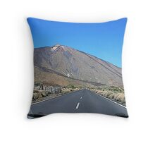 On the road to Teide- Canary Island Throw Pillow