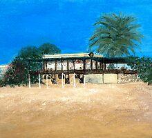 Kyrenia Beach Bar painting by Michelle Bailey