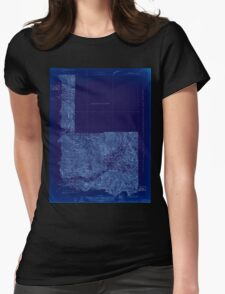 USGS Topo Map Washington State WA Mt Rainier 242668 1924 96000 Inverted Womens Fitted T-Shirt