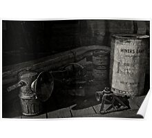 Miners Lamp Poster