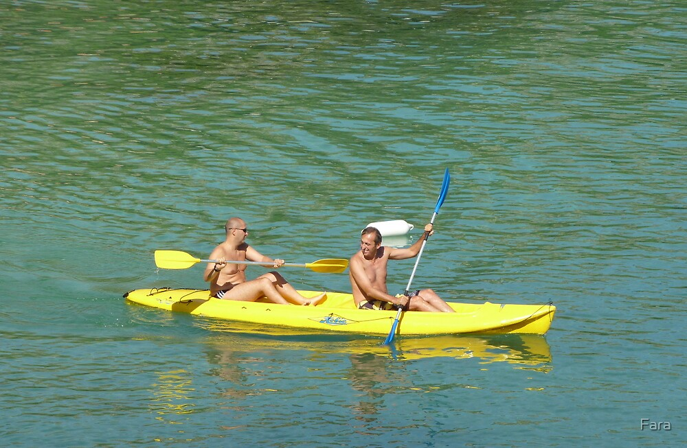Canoeing Off Cap Ferrat by Fara