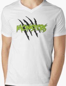 MONSTERS MERCHANDISE ORIGINAL GREEN Mens V-Neck T-Shirt