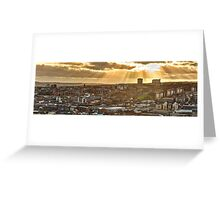Sheffield Skyline Panorama Greeting Card