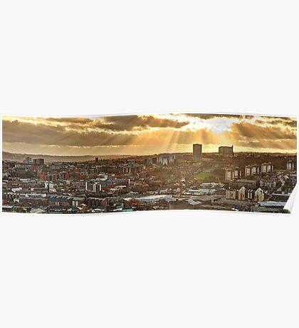Sheffield Skyline Panorama Poster
