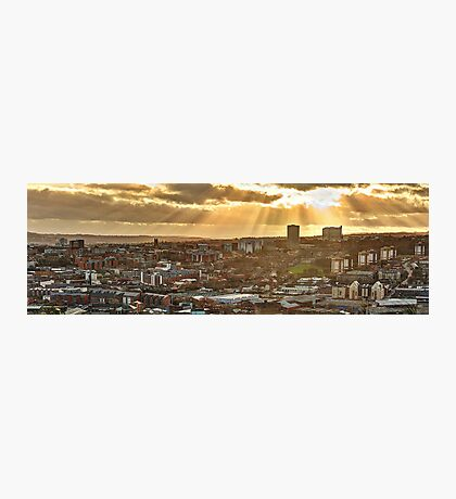 Sheffield Skyline Panorama Photographic Print
