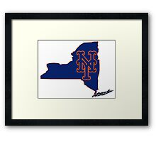 Mets Over Yankees Framed Print