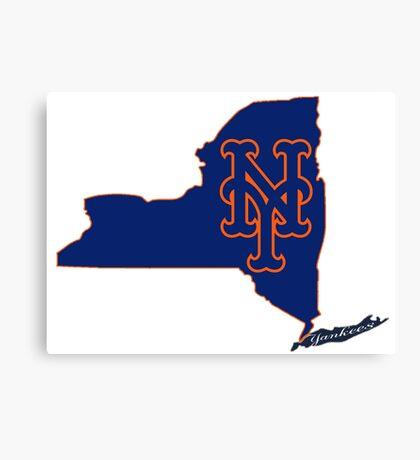 Mets Over Yankees Canvas Print