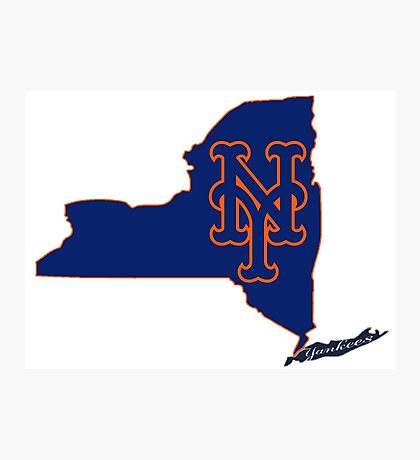 Mets Over Yankees Photographic Print