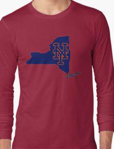 Mets Over Yankees Long Sleeve T-Shirt