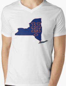 Mets Over Yankees Mens V-Neck T-Shirt