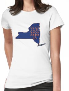 Mets Over Yankees Womens Fitted T-Shirt