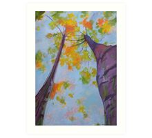 Purple Bark Tree Art Print