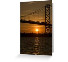 sunset bridge Greeting Card