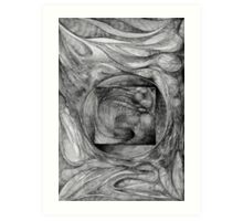 Fossil Fetus (Familiar series). Art Print