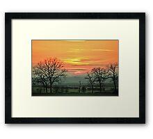 Idle Sundown Framed Print