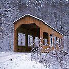 "Snowy Covered Bridge by Christine ""Xine"" Segalas"
