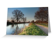 Bridgwater and Taunton Canal Greeting Card