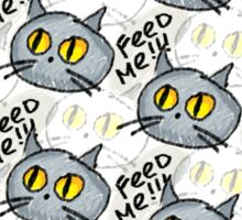 Feed me! cats Sticker