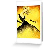 yellow smoke Greeting Card