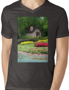 English Style Cottage With Pond In Orlando Florida Mens V-Neck T-Shirt