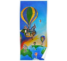 hot air balloon adventure Poster