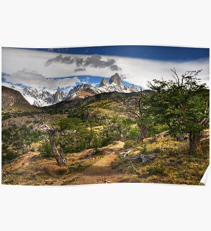 The Track to Mt Fitzroy Poster