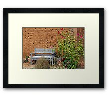 Pueblo Style ~ Sitting Bench  Framed Print