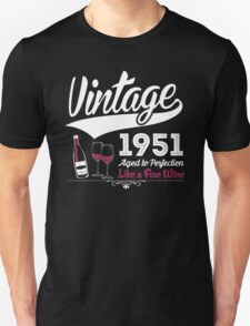 Vintage 1951 Aged To Perfection Like A Fine Wine T-Shirt