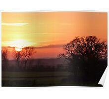 Nottinghamshire sunset Poster