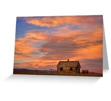 Little House On The Colorado Prairie Greeting Card
