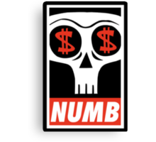 Obey the Numb$kull Canvas Print