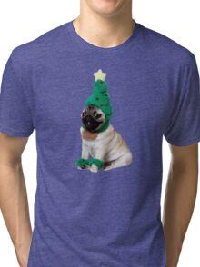 holiday pugger Tri-blend T-Shirt