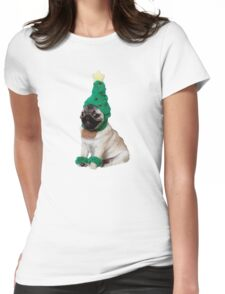 holiday pugger Womens Fitted T-Shirt