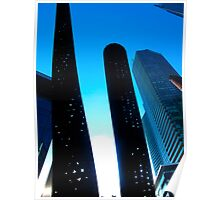 Perforated blue Poster