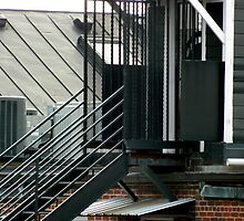 Rooftop Stairs - Smalltown USA series    ^ by ctheworld