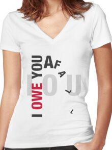 I owe you a fall Women's Fitted V-Neck T-Shirt