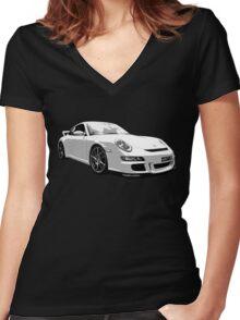 Porsche GT3 Women's Fitted V-Neck T-Shirt