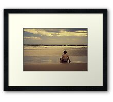 Watching the Waves Framed Print