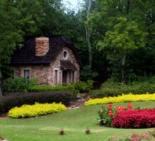 English Style Cottage With Landscaped Pond Sticker