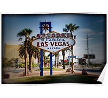 Welcome To Las Vegas Sign Series 4 of 6 Holga Color Poster