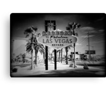Welcome To Las Vegas Sign Series 5 of 6 Holga Infrared Canvas Print