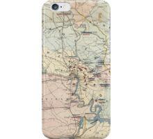 Vintage Richmond Virginia Civil War Battles (1864) iPhone Case/Skin