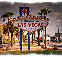 Welcome To Las Vegas Sign Series 6 of 6 Impressions by RickyBarnard