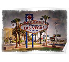Welcome To Las Vegas Sign Series 6 of 6 Impressions Poster