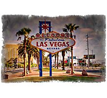 Welcome To Las Vegas Sign Series 6 of 6 Impressions Photographic Print