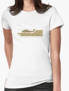 Black Hawk Helicopter Womens Fitted T-Shirt