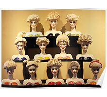 Barbie Heads shelved Poster