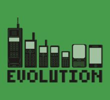 Cell Phone Evolution Kids Tee