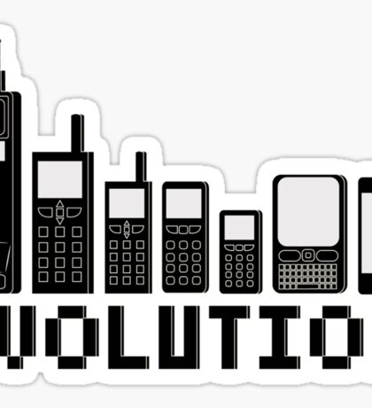 Cell Phone Evolution Sticker